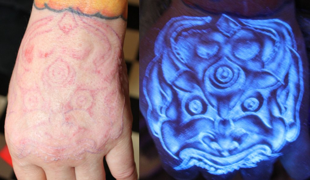 Blacklight tattoos amazingly talented artist for Uv ink tattoos