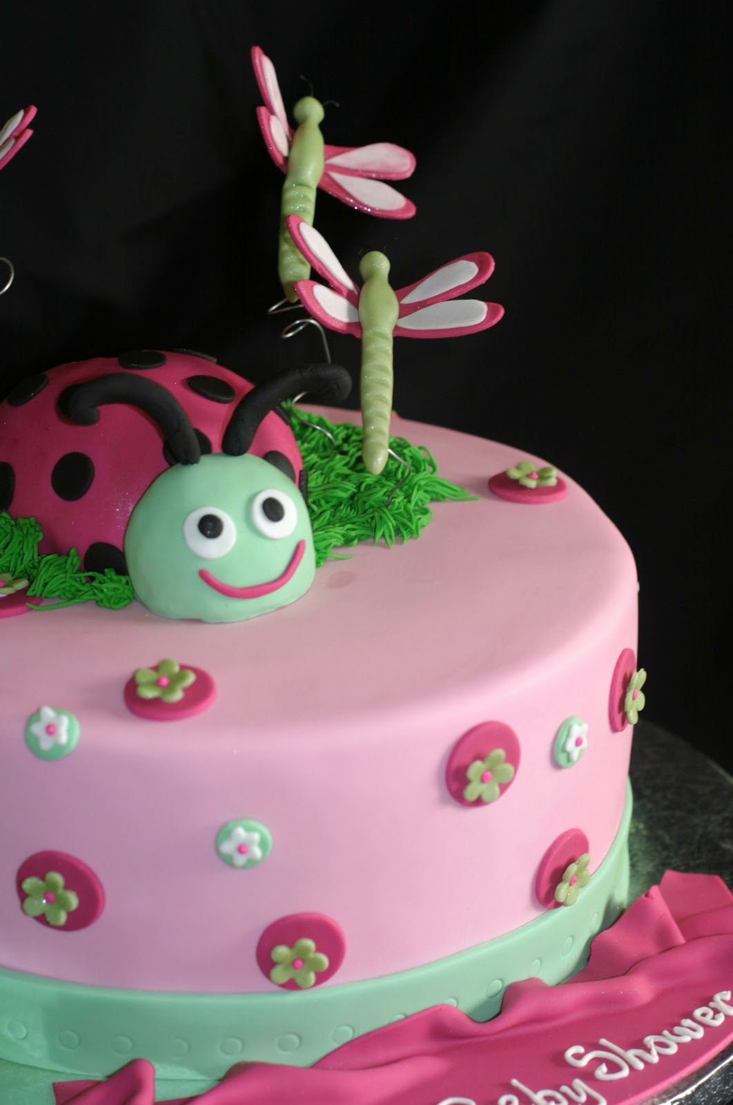 pink little cake pink lady bug baby shower cake