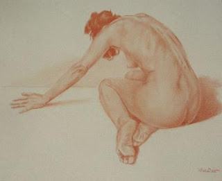 lance bressow- nude in red chalk