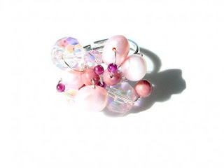 Semi Precious Gemstone Beaded Ring