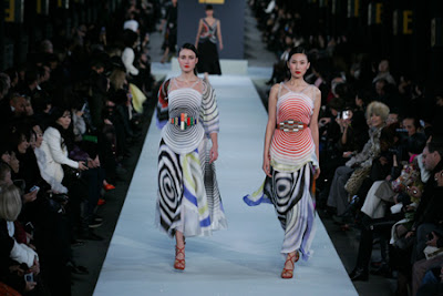 Models at Fendi Runway Show Great Wall of China