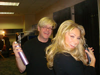 Hairstylist Russell Latham backstage during Dancing with the Stars Tour
