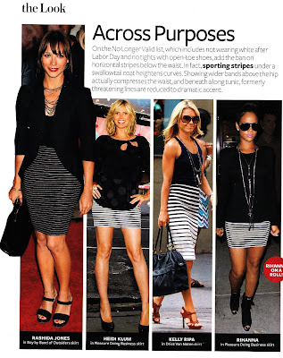 InStyle Magazine: Celebrities wearing striped skirts