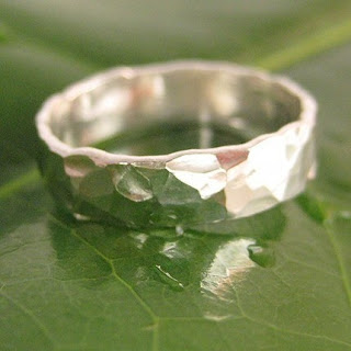 Fine Silver Hammered and Forged ring by Sea Babe Jewelry
