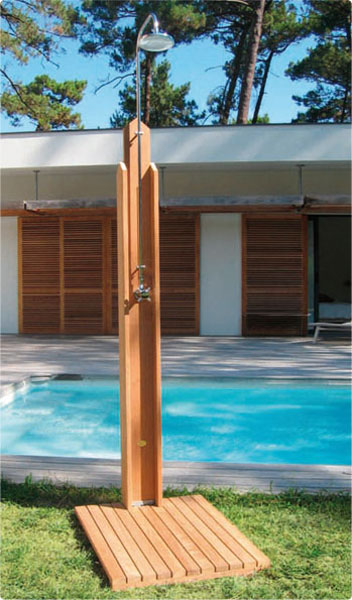 6 unique outdoor shower designs gallery outdoor shower for Pool showers