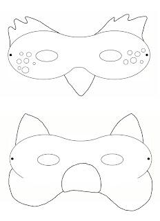 1 2 3 4 5 go again maschere da colorare di for Maschere da colorare animali
