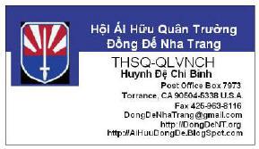 Liên Lạc Hội Ái Hữu Quân Trường Đồng Đế Nha Trang