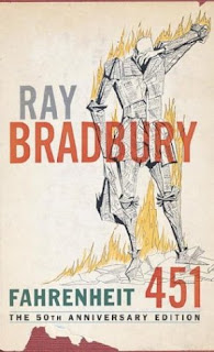 Cover of Ray Bradburys Fahrenheit 451, via Maias Blog - Just Add Coffee