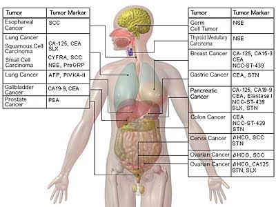 Health screening cancer marker numbers