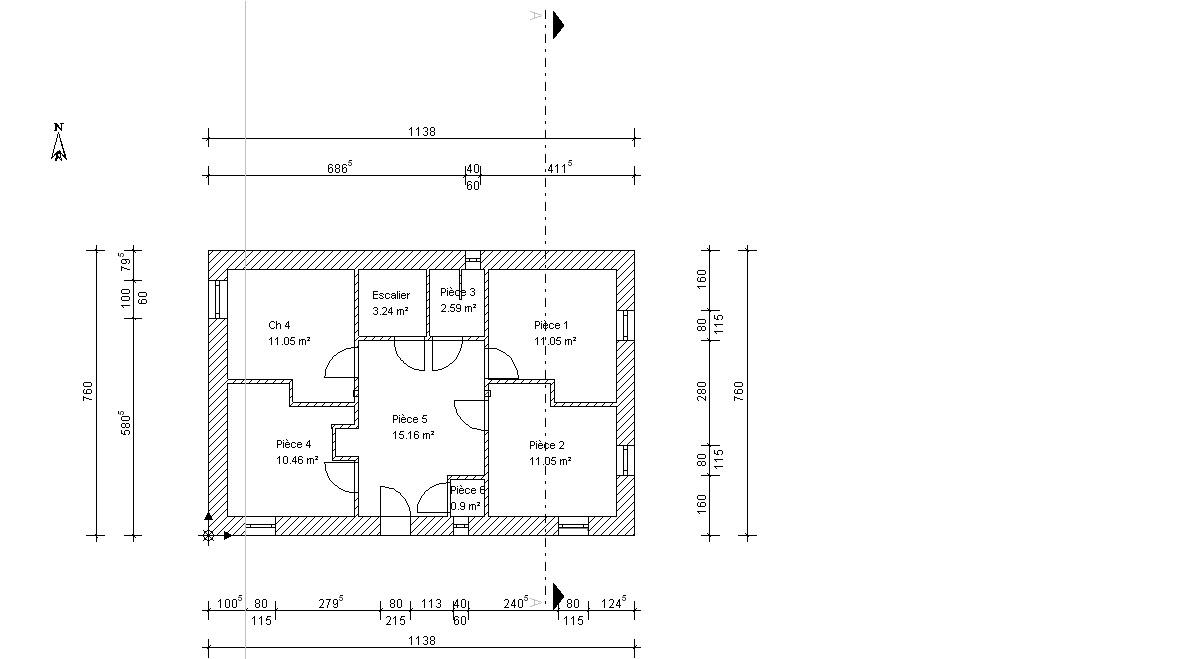 Assez Plan De Maison Plain Pied Gratuit A Telecharger. Awesome Vue D  KT52