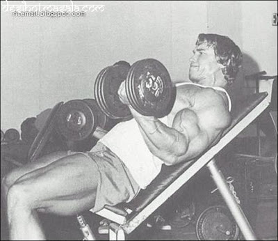 arnold gym bodybuilding incline dumbbell curls Massive Arms Crazy Biceps Part 1