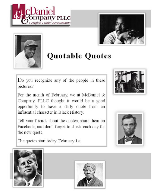 quotes for february. PLLC - Quotes for February