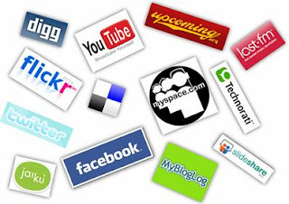 collage of logos from various social media websites