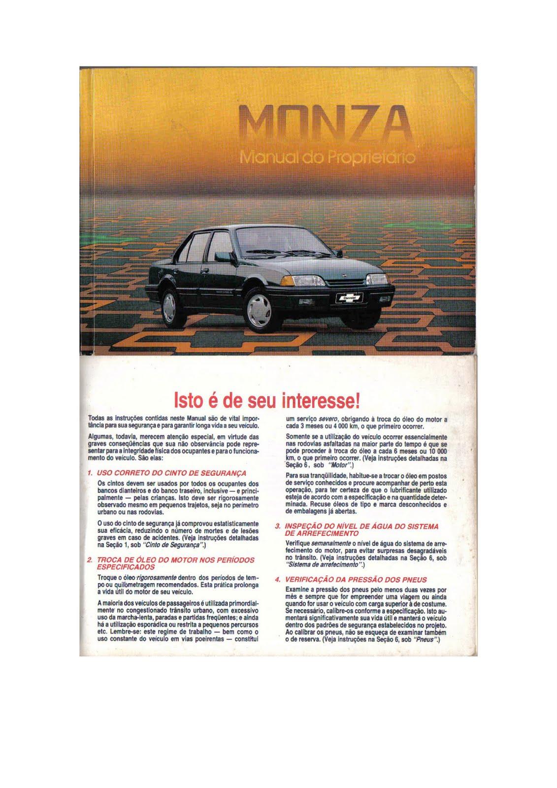 manuais do propriet rio gm monza 1991 rh manuaisdoproprietario blogspot com manual de reparações do monza 91