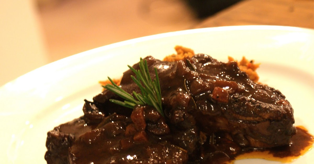 Piccante Dolce: Red Wine Braised Short Ribs