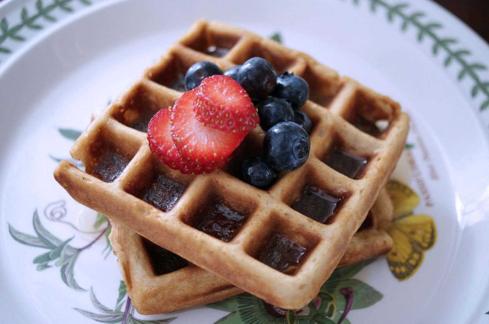 waffles waffles buttermilk and brown butter waffles recipes dishmaps ...