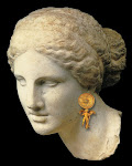 "Aphrodite of Knidos ""Kaufmann Head"" 2nd cent BC, Louvre Museum. Original by Praxiteles 4th cent BC"