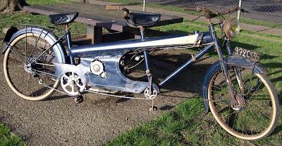 Moto Narcisse Laguin Sport Tandem motorized bicycle.