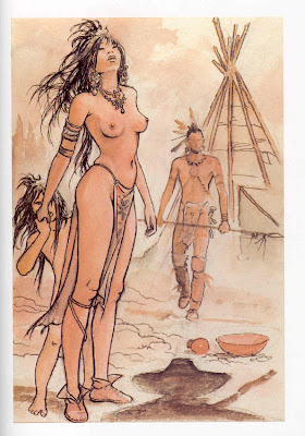Milo Manara, femme indienne nue - Blog with a View