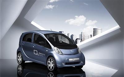 Voiture électique Peugeot-Ion, déclinaison de la i-Miev de Mitsubishi - http://www.terrenatale.blogspot.com