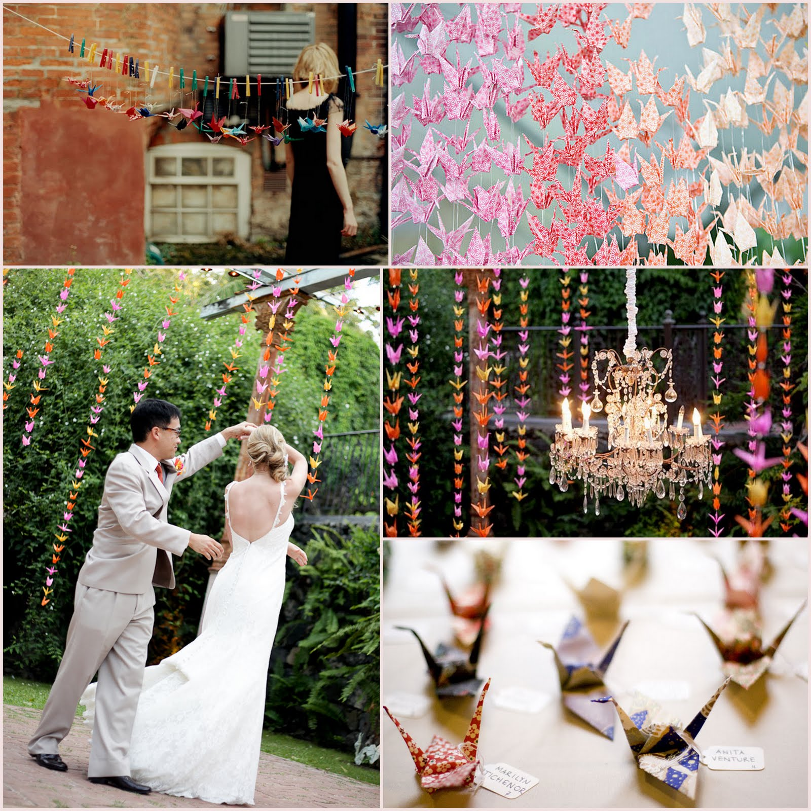 Omiyage blogs 1000 paper crane weddings for 1000 paper cranes wedding decoration