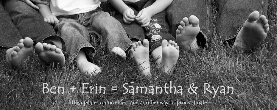 ben + erin = samantha & ryan