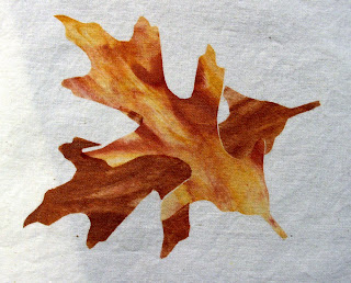 Gorgeous stenciled leaves notice the 3D qualitythe