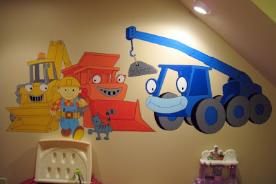 Big bri 39 s murals april 2009 for Bob the builder wall mural