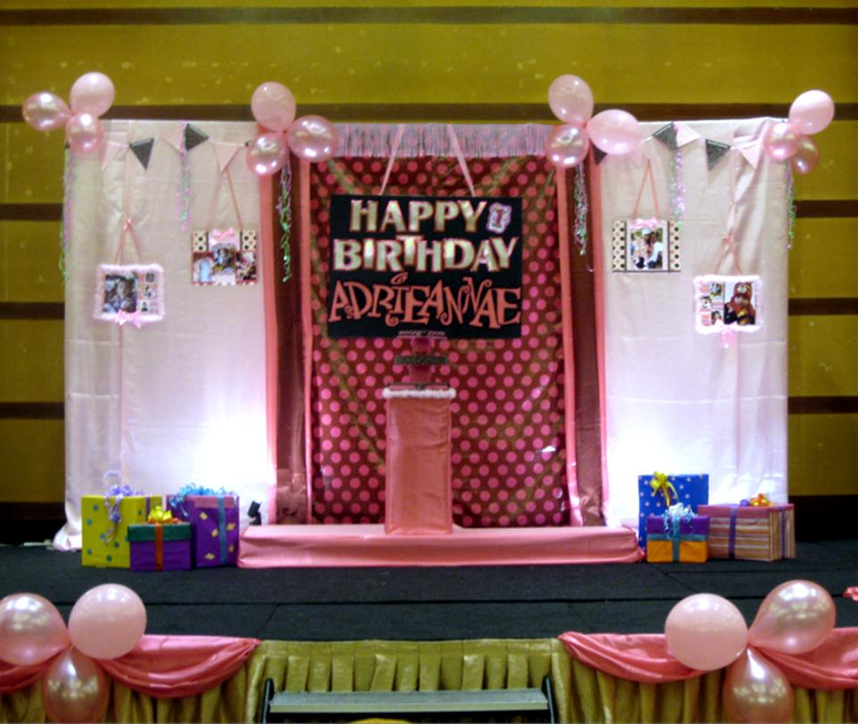 Party Decoration: Birthday Stage Project - The Result