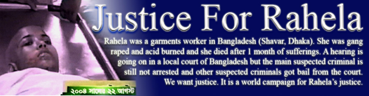 Justice for Rahela