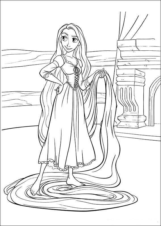Princesas Disney Dibujos para colorear de Rapunzel Enredados