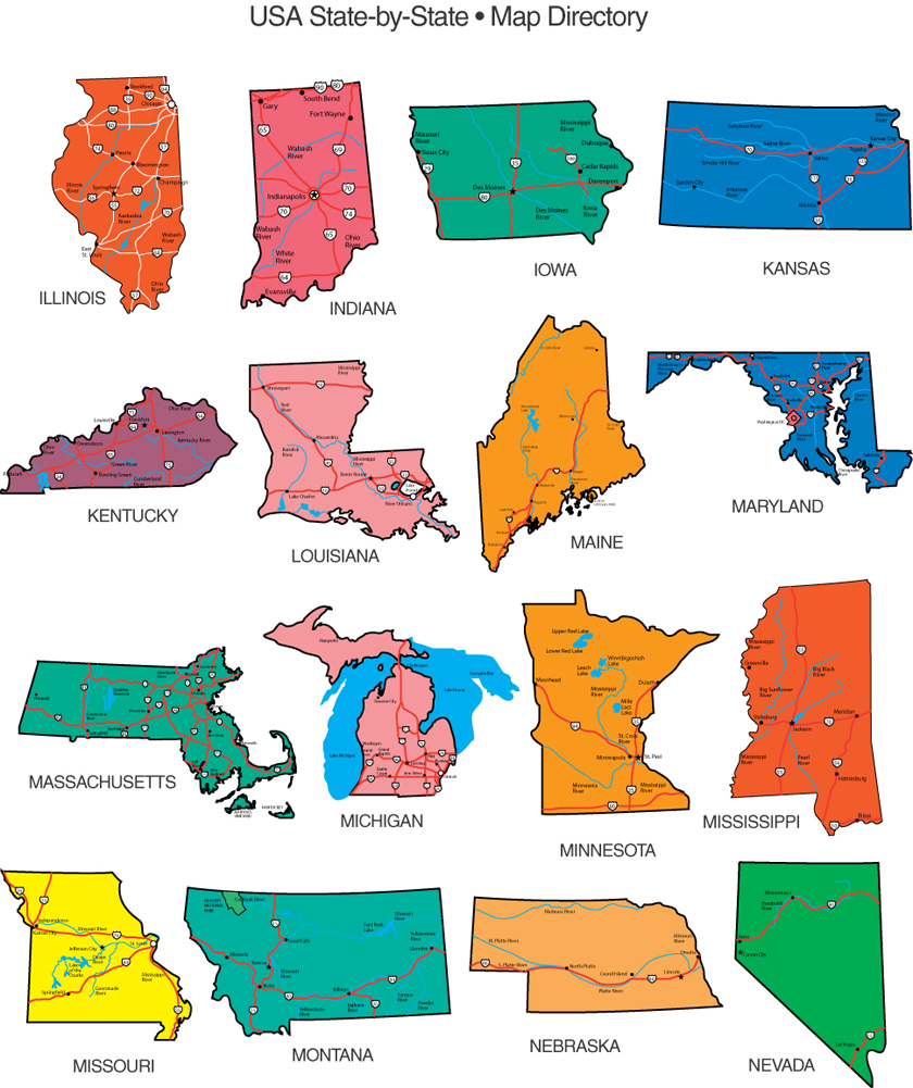 Maps For Design Editable Clip Art PowerPoint Maps US State And - Map of us clip art