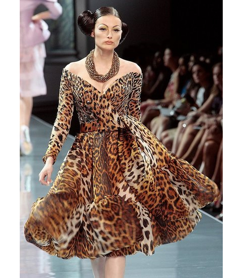 christian dior leopard print cocktail dress   if only this was mine