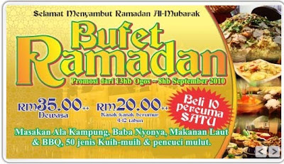 Ramadhan Buffet 2010 Di Hotel Sekitar Johor Bahru