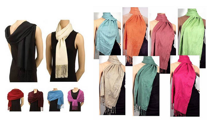 Sinar Store How to wear your pashmina How To Wear A Pashmina Shawl With A Dress