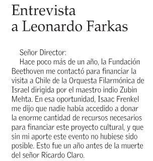 haga click para ver esta Carta completa - El Mercurio Julio 22 de 2009