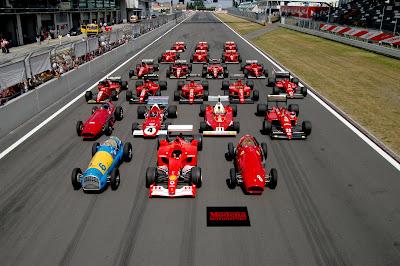 algunos modelos Ferrari de competencia