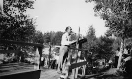 John T. Bernard speaking at Mesaba Co-Op Park 1938