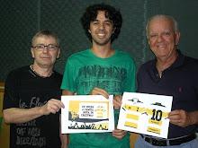 Carlos Alberto, De França e Milton Carvalho no Bola na Mesa