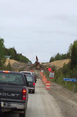 Construction on K Beach Road