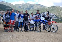 Algunos de los Pilotos del Motoclub Villa de Ojén