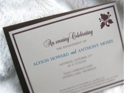 Engagement Invitations on Engagement Invitation  Alyson   Anthony