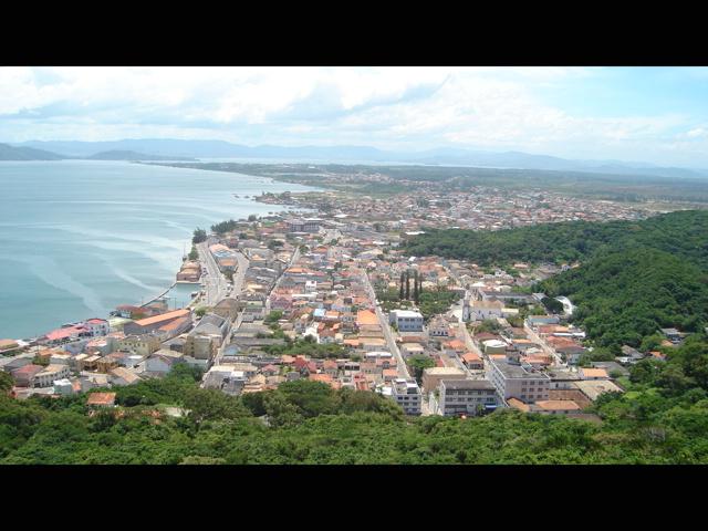 centro vista do alto do Morro da Glória