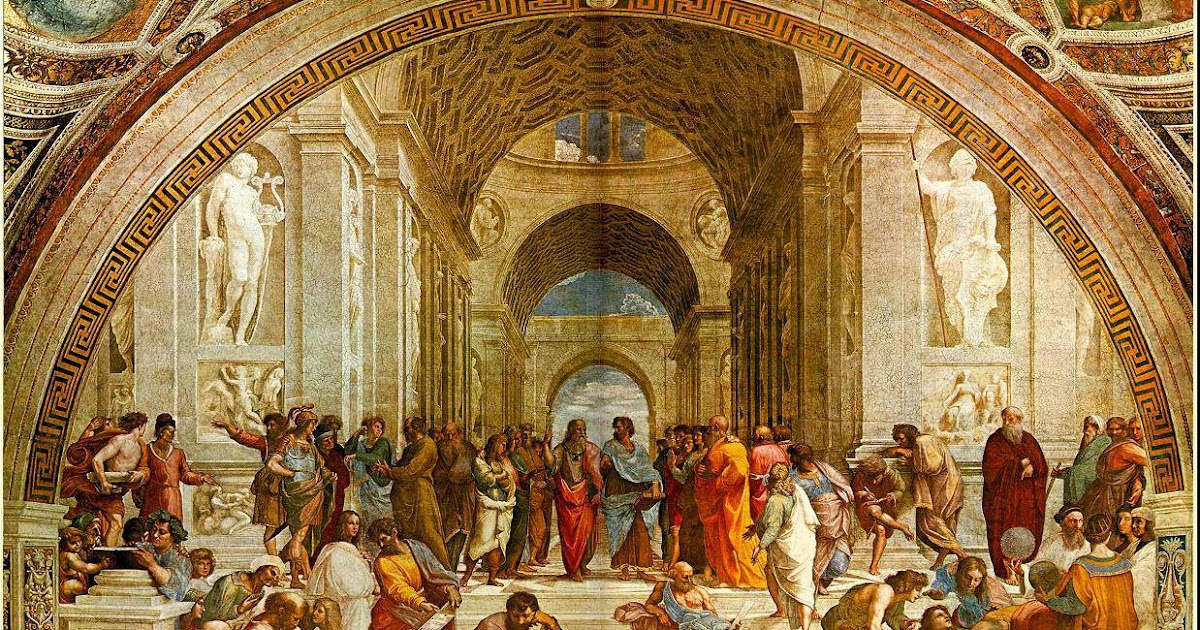 an examination of raphaels school of athens  ideas, architects turned to symmetry and geometry, scientists examined the  human body  the school of athens by raphael (1511)   source.