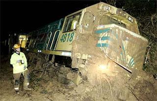 Железнодорожный локомотив смыло селевым потоком Новая Зеландия Slip stops train as wild weather hits Wellington