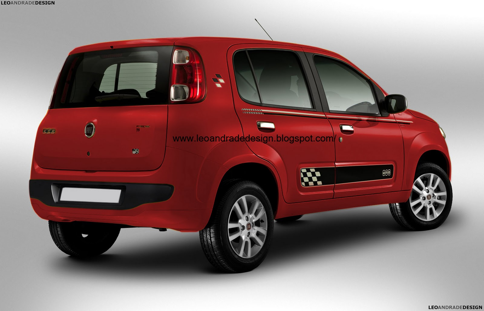 Novo Fiat Uno 2014 ~ Leo Andrade Design
