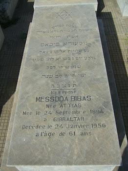Cementerio Judío de Casablanca. Tumbas de los Bibas (imágenes de lápidas)