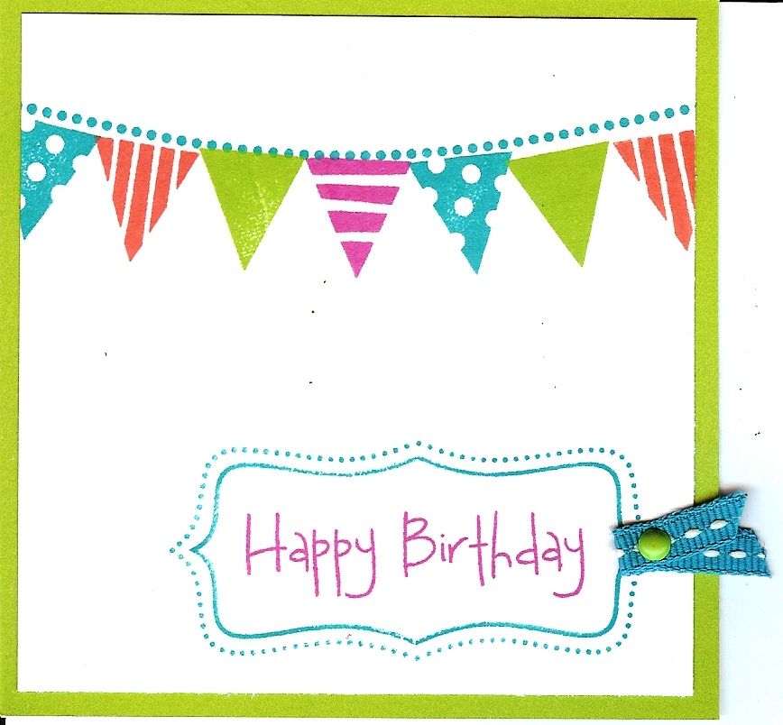 Stamp Happy Big Birthday Card Workshop This Saturday October 2
