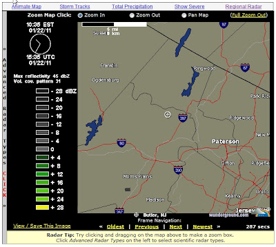 Local Kinnelon Weather Radar