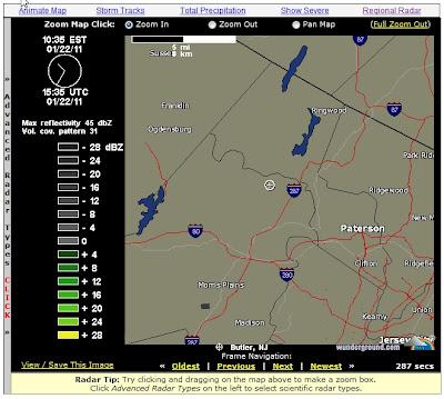 Local Kinnelon Weather Radar